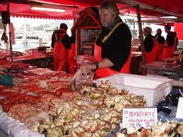 Рыбный рынок в  Баргене
