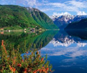 Хардангер Фьорд в Норвегии